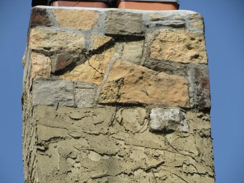 Stucco-covered chimney 1