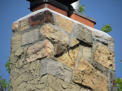 Stucco-covered chimney 2