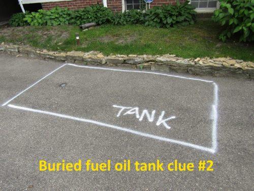 buried fuel oil tank subtle clue #2